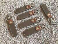 Keychains Supreme Genuine Leather Keys Holder Brown Handmade Key Chains Lot of 5