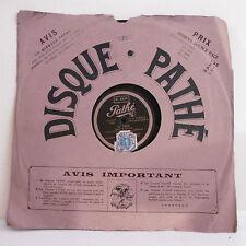 78T SAPHIR - VORELLI Disque Phonographe LE FADO -VALENCIA Chanté PATHE 4249 RARE