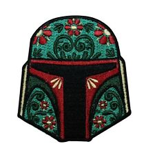 Boba Fett Calavera Helmet Iron-On Patch Star Wars Character Decoration Applique
