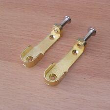 2 x Schrankrohrhalter Schrankrohrlager für Oval Kleiderstange 15 mm