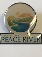 Town of Peace River Lapel Pin - Alberta Canada Brooch Hat Tie Pinback VINTAGE