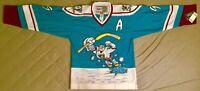 1995 Paul Kariya Mighty Ducks of Anaheim Jade Wild Wing Jersey Size Men's Large