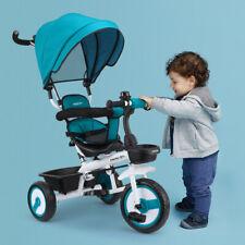 4in1 Kinder Dreirad Kinderdreirad Buggy +Schiebstange +Dach +Fußstütze Fahrrad