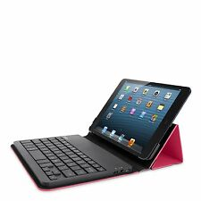 Belkin iPad Mini 1 2 3 QWERTY Portable Keyboard Folio Case/Cover Pink & Black