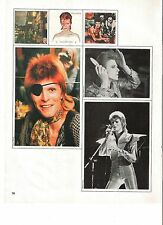 DAVID BOWIE pirate and pics magazine PHOTO/ Poster/clipping 11x8 inches