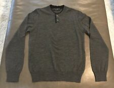 Dolce & Gabbana Italy Mens Henley Crew Neck 100% Wool Sweater 48 38 Small $395