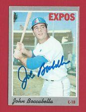 JOHN BOCCABELLA (Expos) Signed Autographed 1970 Topps Baseball Card #19 EX MINT