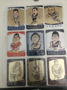 9 DIFFERENT AFL TEAMCOACH SW & MW CARDS — 2009-2012