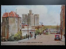 Tyne & Wear: Black Gate & Castle, Newcastle on Tyne c1929 Old Postcard
