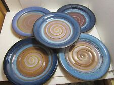 Bill Campbell Studios Art Pottery Swirl Dinner Plate Multicolor Glaze