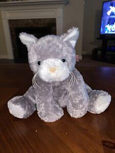 """Mary Meyer FLIP FLOPS GRAY WHITE KITTY CAT Bean Filled STUFFED ANIMAL PLUSH 10"""""""