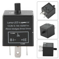 CF14 3 Pin Adjust 12V LED Flasher Relay Car Turn Signal Indicator Blinker Light