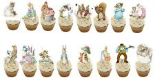 17 Original Peter Rabbit Stand Up Comestible Cupcake Topper Decoración Comestible