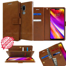 For LG V40 V50 / G7 THINQ Case Double Flip leather wallet ShockProof Case Cover