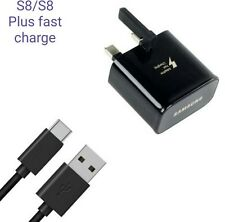 Fast Charge UK Wall Plug Charger for Samsung Galaxy S8 S8 Plus A3/5 Google Pixel