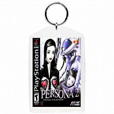 Playstation one 1 PS1 PERSONA 2 Video Game Classic Box Cover Keychain