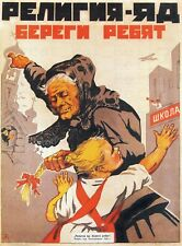 Soviet Propaganda Poster - Religion is Poison, Soviet Vintage, Soviet Poster