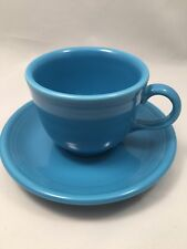 Fiestaware Peacock Tea Cup and Saucer - Homer Laughlin - Discontinued