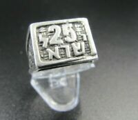 Old Hand made Sterling Silver Rare 25 Years ISRAEL Adjustable judaica Ring