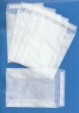 GLASSINE PEEL & SEAL ENVELOPES 117mm x 89mm - NEW & WITH 'FREE' POST
