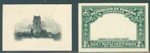 Panama 1915, 2.5c Ruins, PROOFS center+frame, archival, RRR  #208