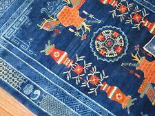 Antique Chinese Peking Rug Size 5'x6'8''