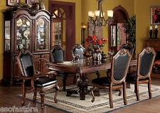 Traditional Elegant Formal Carving Finish Cherry Dining Room Set 7pc Dining  Set