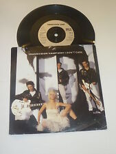 Transvision Vamp - Baby I Don't Care - 1989 UK 3-track 17.8cm Vinyl Single