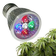 LAMPADINA LED GROW lampada 10 W ALLUMIO AMPIO SPETTRO piante acquari idroponica