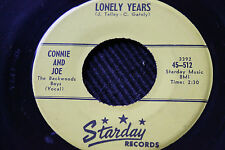 """CONNIE & JOE """"Home Is Where The Heart Is"""" & """"Lonely Years"""" 45rpm Starday Records"""