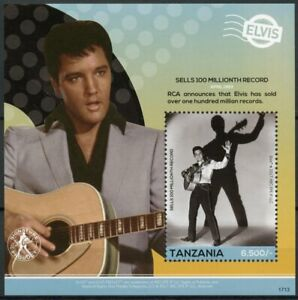 Tanzania 2017 MNH Elvis Presley His Life in Stamps Celebrities Music 1v S/S IV