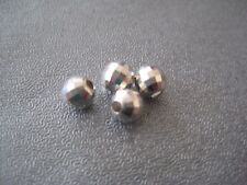 Sterling Silver Faceted Disco Round Bead Spacer 5mm 4pcs