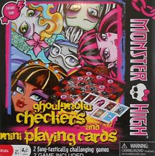 Checkers MONSTER HIGH Mini Playing Cards 2 Game Set