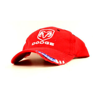 Dodge Stars & Stripes Red Baseball Cap, Distressed Style, Adult, Unisex fit