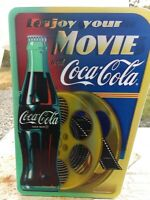 """NEW 15"""" Coca Cola 1/2 empty then full Bottle 3 D ENJOY YOUR MOVIE theater Sign"""