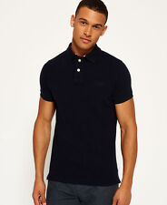 New Mens Classic Pique S/S Polo Eclipse Navy Marl
