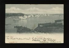 Germany KIEL Kriegshafen battleships firing salute? Used 1903 u/b PPC