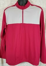 Mens Extra Large Xl Adidas 1/4 Zip Pullover Clima-Warm Fleece Sweater Jacket