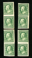 US Stamps # 383H F 4 paste up pairs OG NH Scott Value $200.00