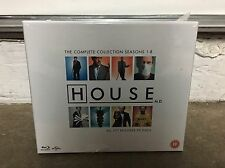 House The Complete Collection Seasons 1-8 On Blu-Ray- Brand New- U.K. Edition