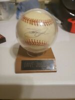 DAVE JUSTICE BRAVES AUTOGRAPH SIGNED ON NL RAWLINGS  BASEBALL 1999s in Holder