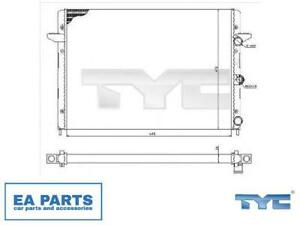 Radiator, engine cooling for FORD VW TYC 737-0005