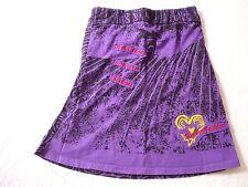 Jupe TON TIN 12 Ans fille violet imprimé taille élastique 100% coton