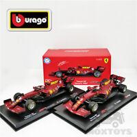 Bburago 1:43 F1 2020 Ferrari SF1000 #5 S. Vettel/#16 C. Leclerc Signature Series