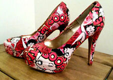 Betty Boop customised decoupage shoes