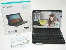 NEW Logitech Type-V Ellipsis 8 Black Keyboard Folio Bluetooth Case Protection