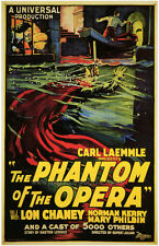 THE PHANTOM OF THE OPERA Movie POSTER 27x40 B Lon Chaney Sr. Norman Kerry Mary