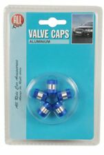 All Ride Valve Caps – Pack of 5 – Blue/Silver
