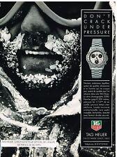 Publicité Advertising 1992 La Montre Tag Heuer serie chronographe 2000