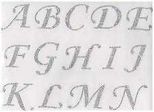 Alphabet Rhinestone iron on transfer DIY applique 26 letters + 5 letters free